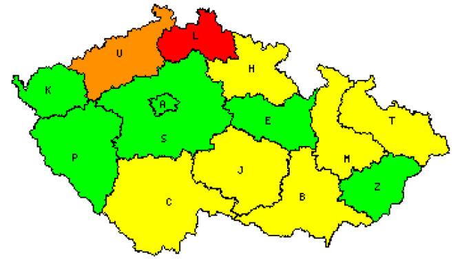Stan rzek w Czechach (Czeski Instytut Hydrometeorologiczny)