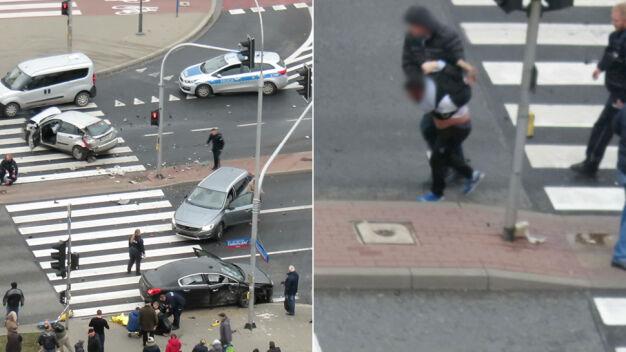 Policyjny pościg i poważny wypadek