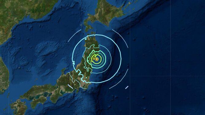 Trzęsienie ziemi w Japonii. Było odczuwalne w Tokio