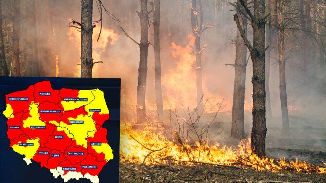 """Duże ryzyko pożarów w większości kraju. """"Jutro będzie jeszcze większe"""""""