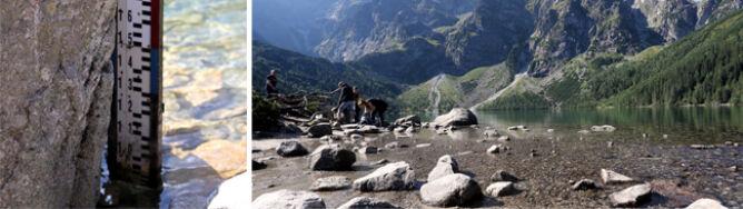 Tatry: wysychają wodospady i potoki. Poziom wody w stawach obniżył się o metr