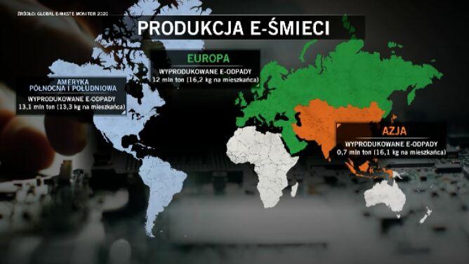Produkcja e-śmieci na świecie