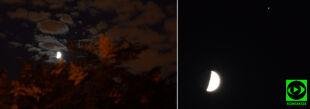 Koniunkcja Księżyca i Jowisza. Wyjątkowe zdjęcia