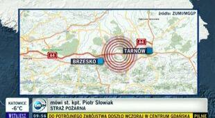 Autobus wpadł w poślizg, uwięzionych 55 pasażerów (TVN24)
